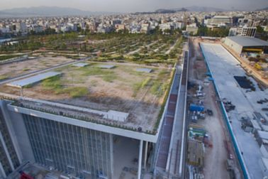 Construction Site of the Stavros Niarchos Cultural Center in Greece