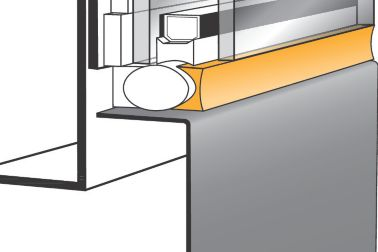 Illustration of a structurally bonded window