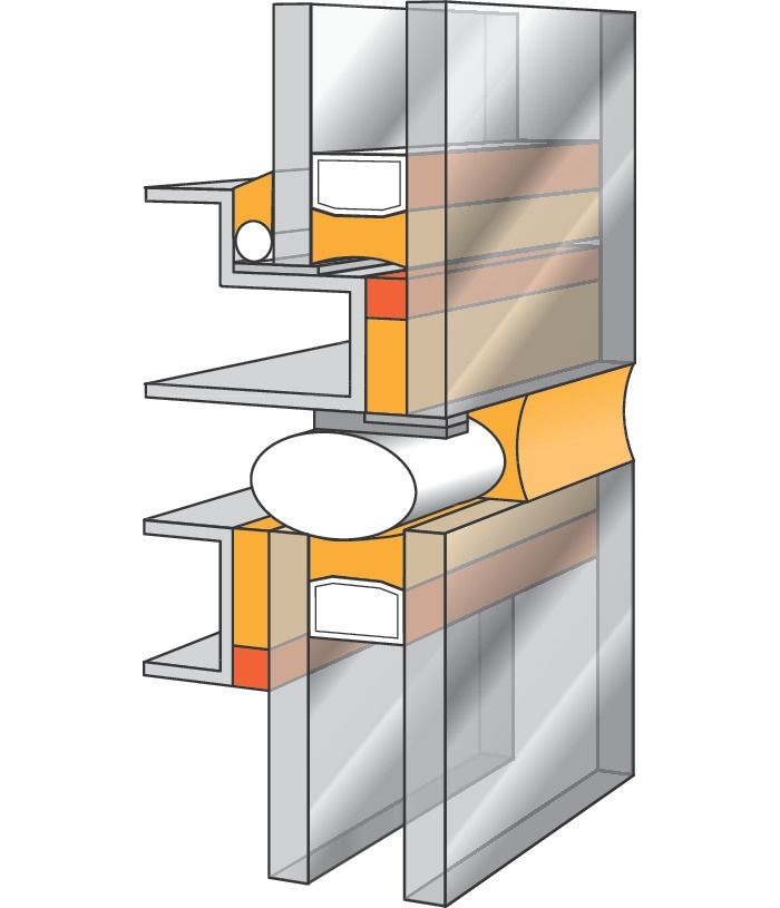 Structural glazing diagram