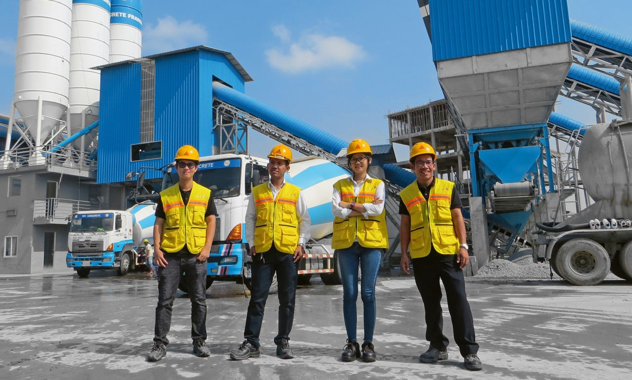 Sika Cambodia – Team Sales, Quality Control and Concrete Laboratory