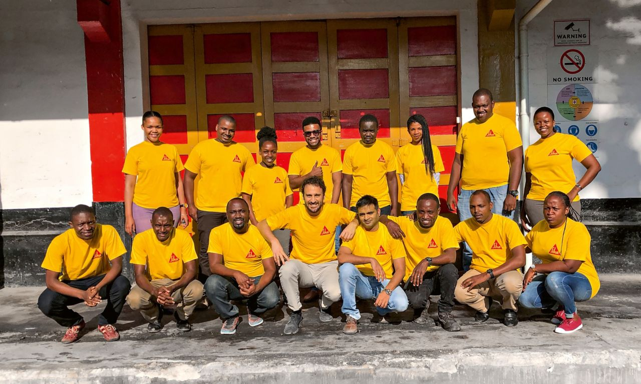 Sika Tanzania – General Manager with Team