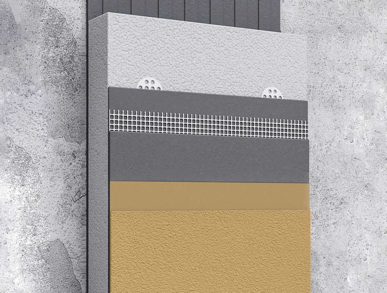 Thermal Insulation applied on facade