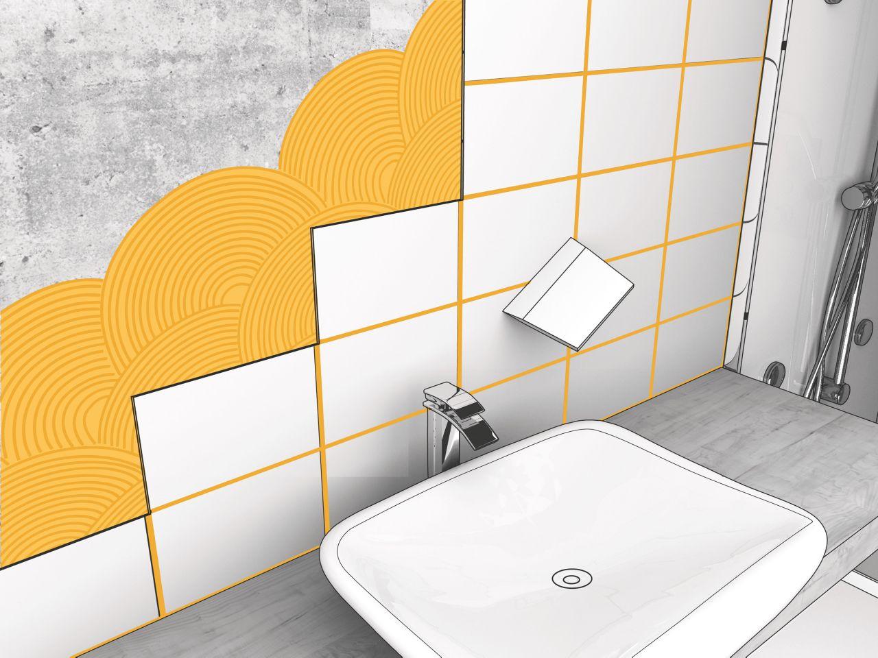 瓷砖设置在浴室配有西卡陶瓷胶粘瓷砖胶粘剂