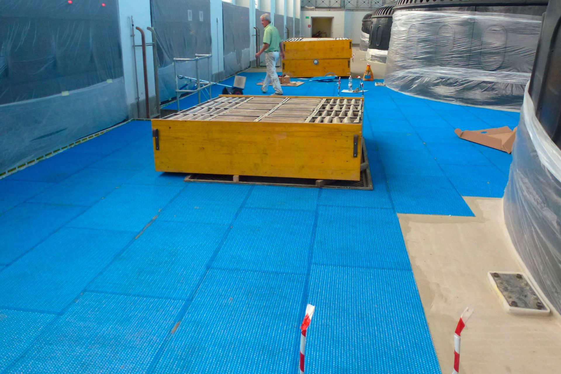 Floor renovation at hydropower plant in Eglisau, Switzerland