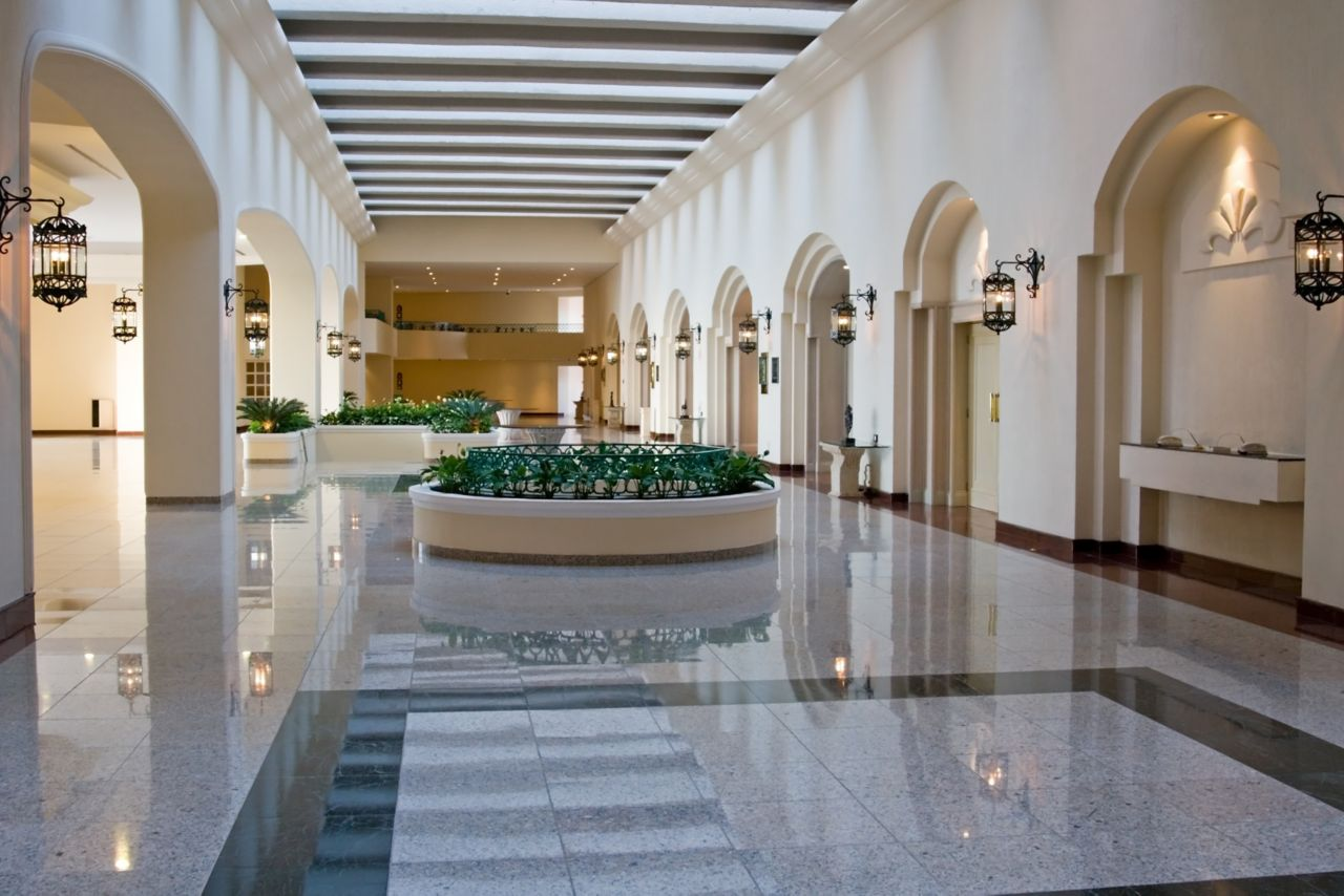 Tiles in hotel lobby area