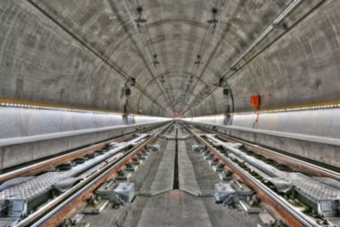 Train railway tunnel with Sika Watertight concrete