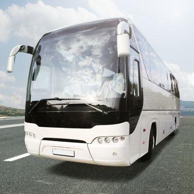 Modern Bus on a street