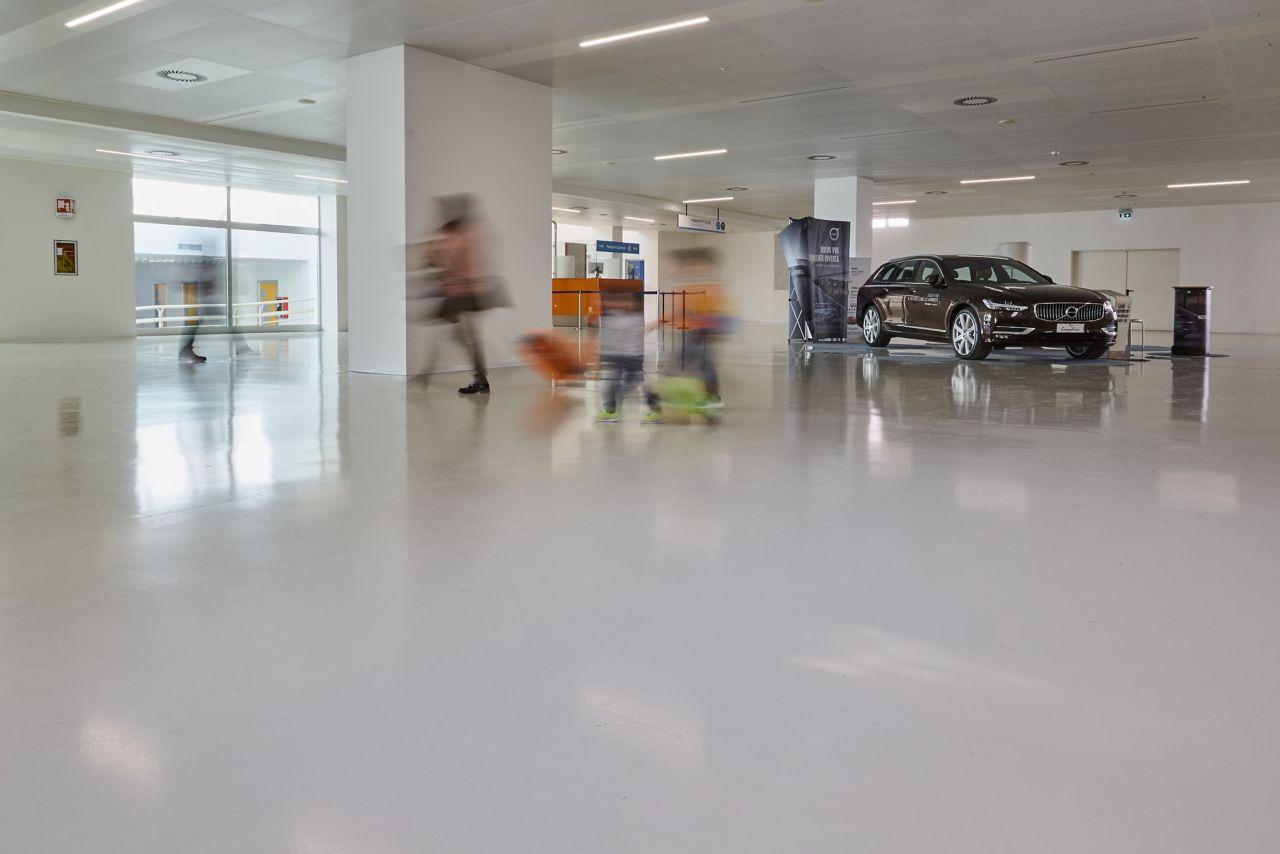 Passangers walking at Trieste Airport