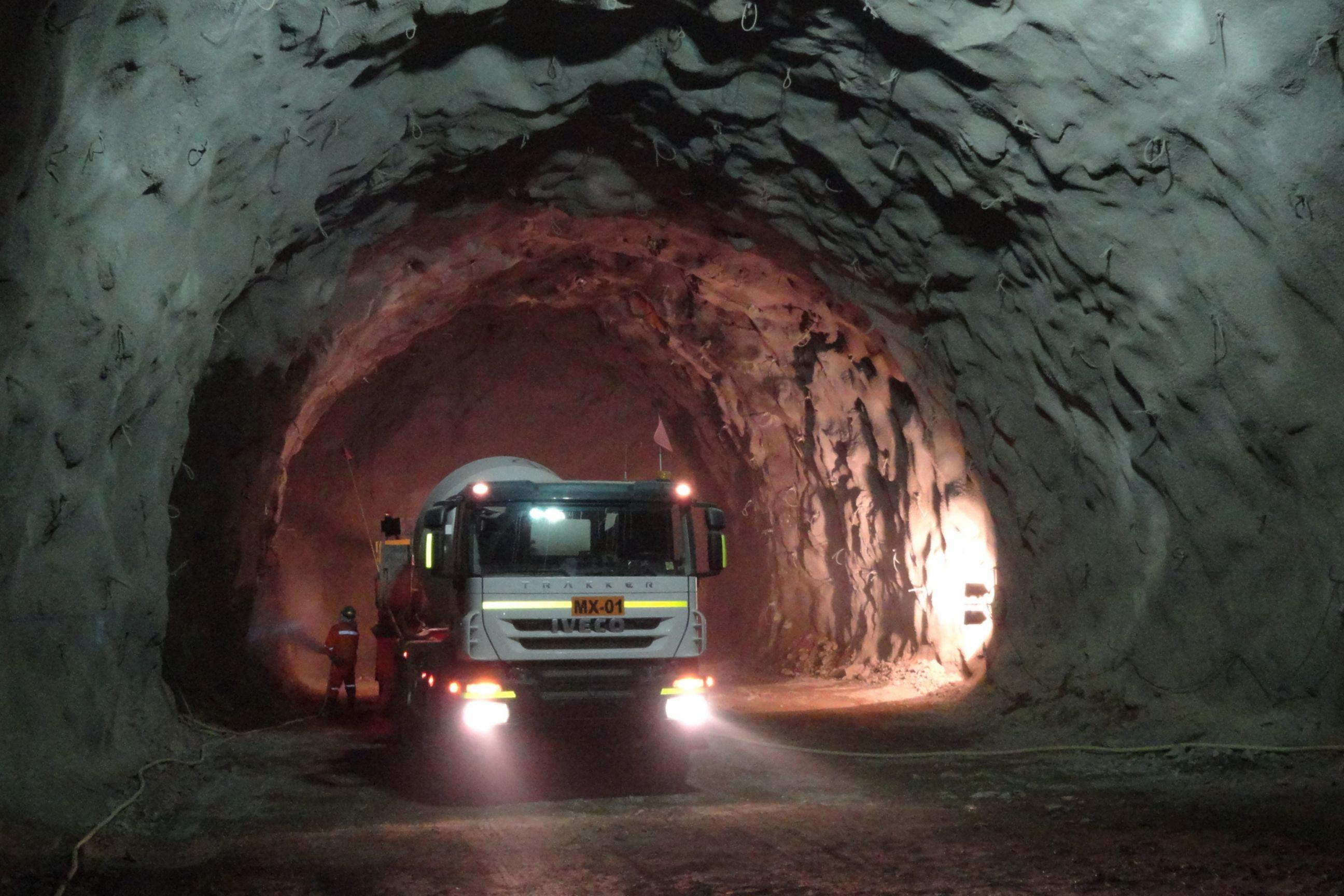 Construction at Chuquicamata Underground Mine in Chile