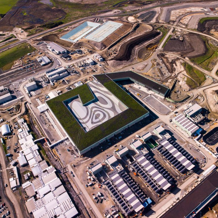 Green roof of Victorian Desalination Plant in Australia