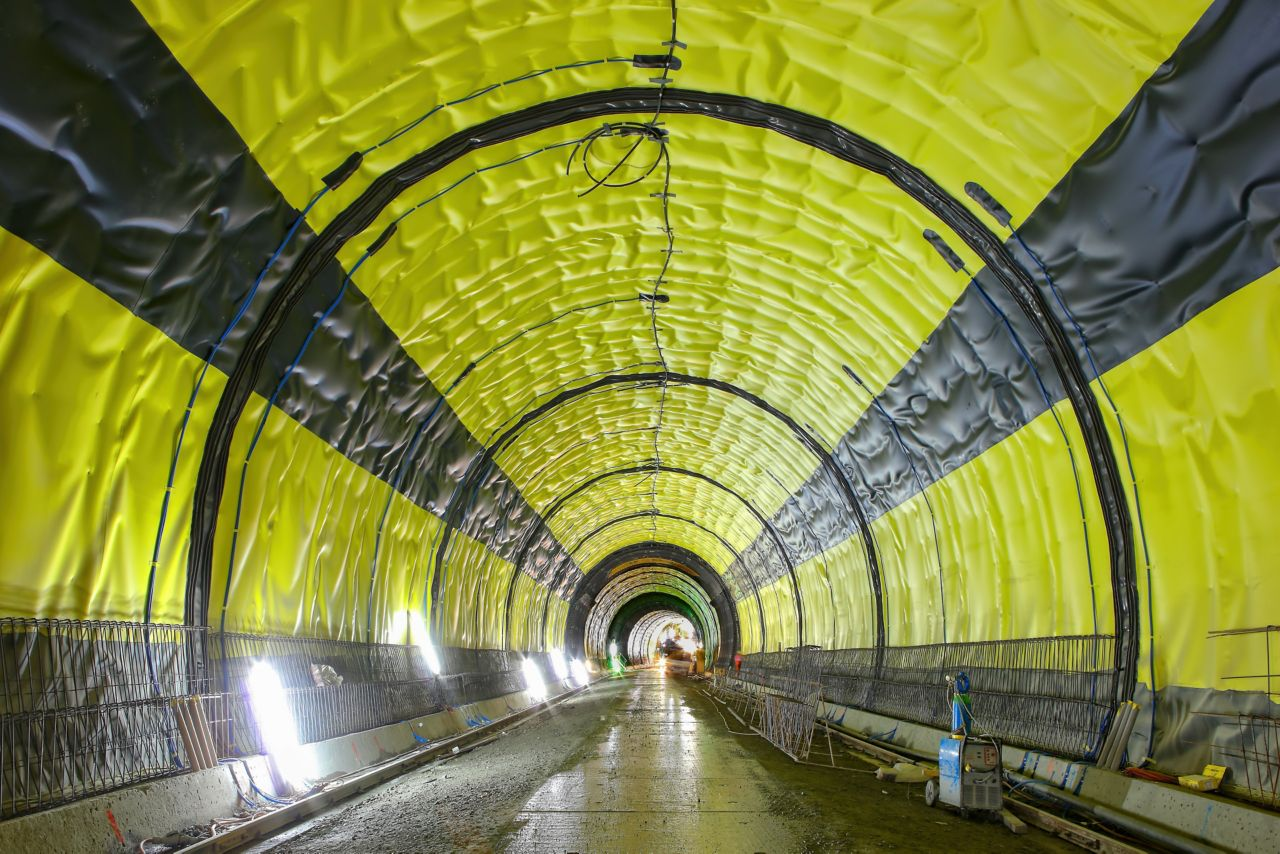 Sikaplan sheet waterproofing system protecting Visp tunnel in Switzerland