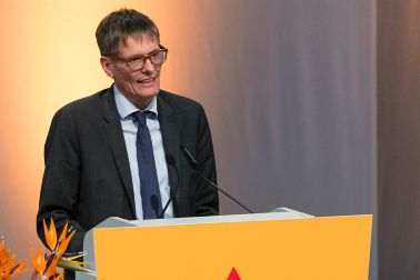 Karl Vogler, Nationalrat Obwalden, at the AGM 2016