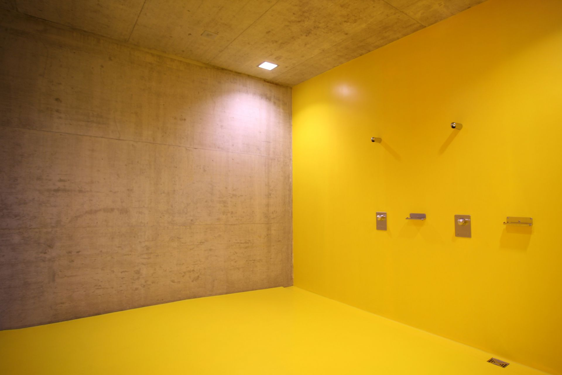 Colorful floor and wall coating made with Sika coating systems