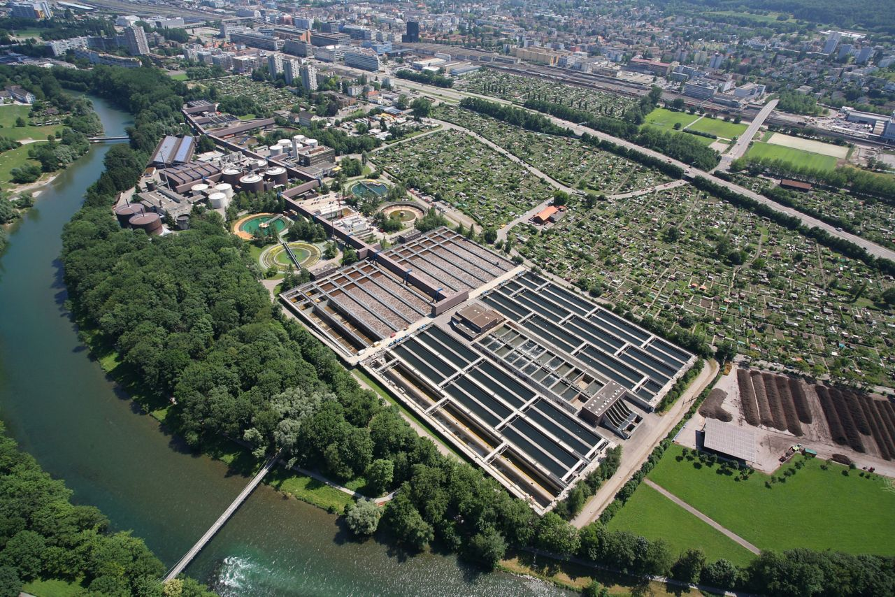 Waste water treatmant plant in Zurich, Switzerland