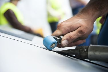 Hand welding of waterproofing sheet membrane