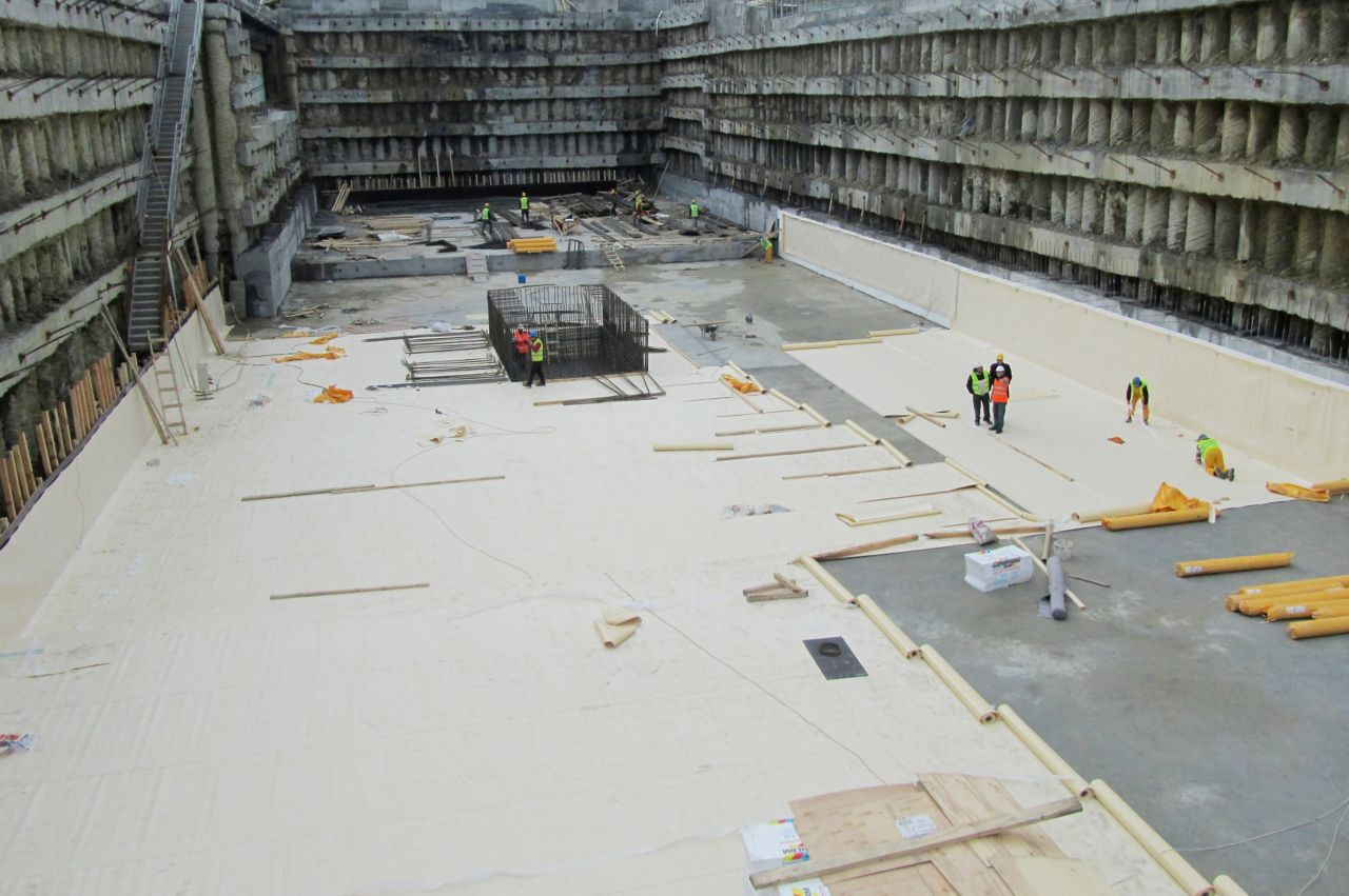 Below grade basement waterproofing with sheet membrane system