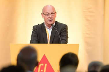 Werner Schwerdt, Sika Germany, at the AGM 2018