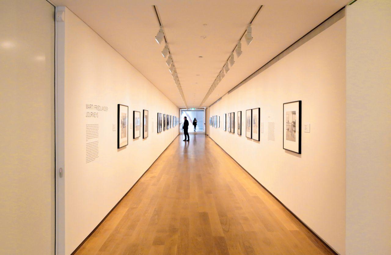 Wood floor in gallery