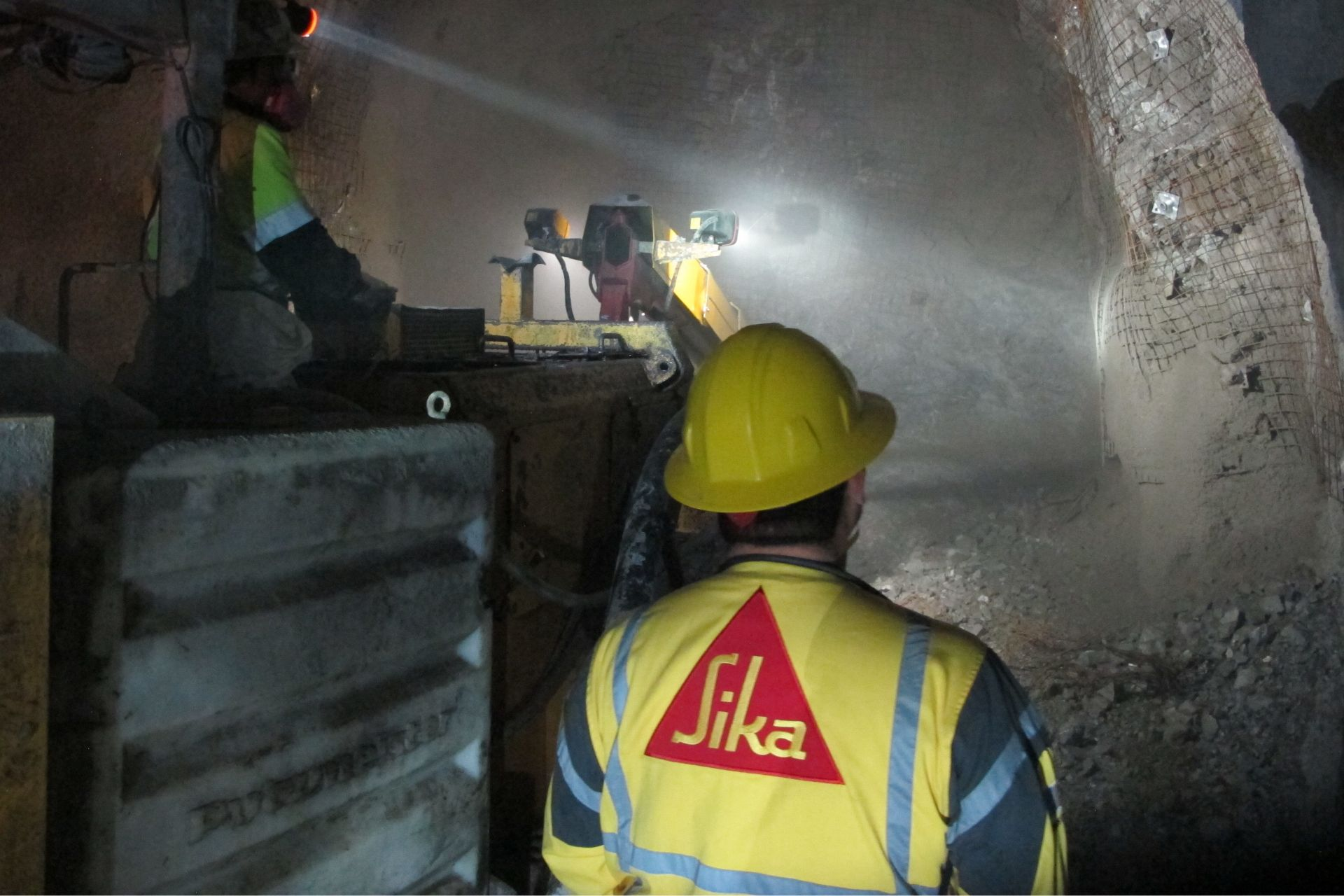 Shotcrete application underground