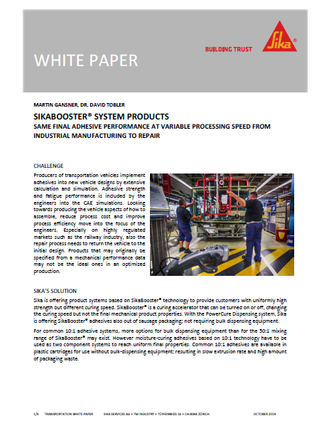 white paper SikaBooster system products