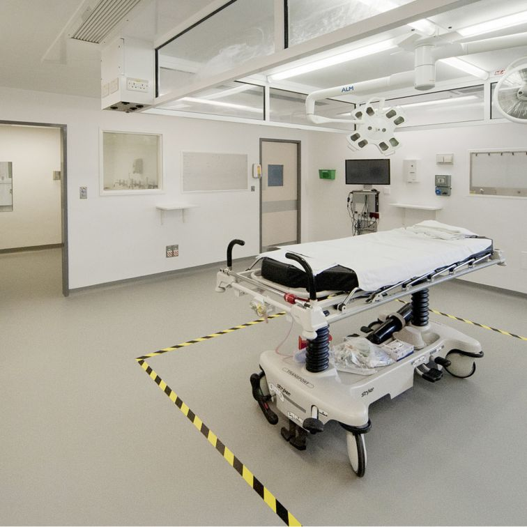 Refurbished operating theatre of the York Hospital in the UK