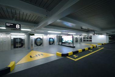 Car park of Zurich Airport