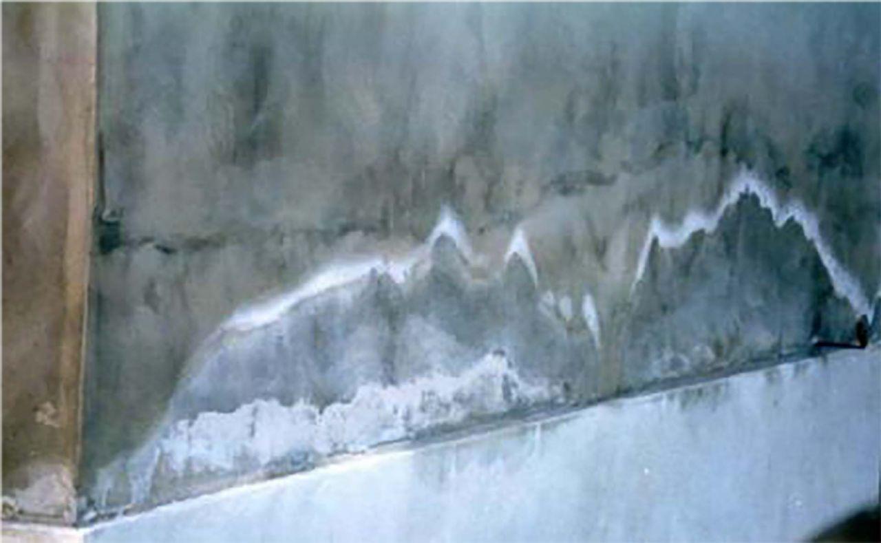 vizesedő fal