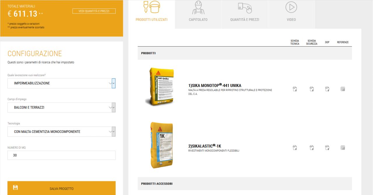 Prodotti e Documenti aggiornati nel Sika® Project