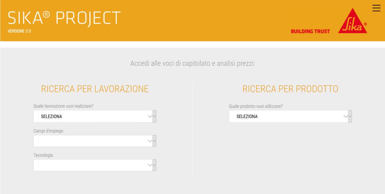 Interfaccia Sika Project