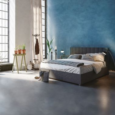 Pareti e pavimenti camera da letto in microcemento