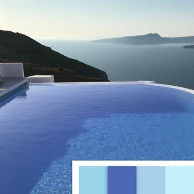 Vista piscina pigmento blu