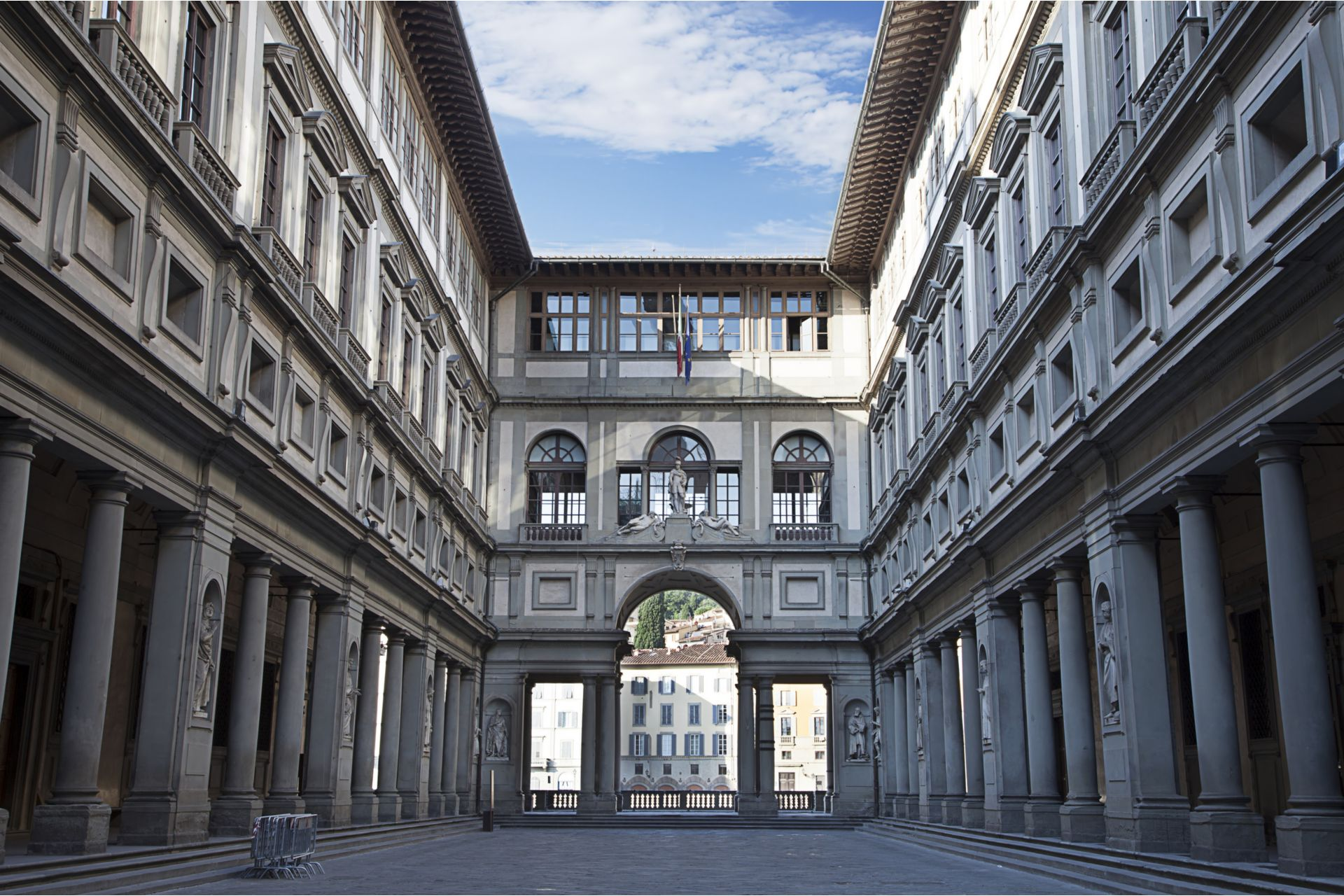 Uffizi Gallery, primary art museum of Florence. Tuscany, Italy