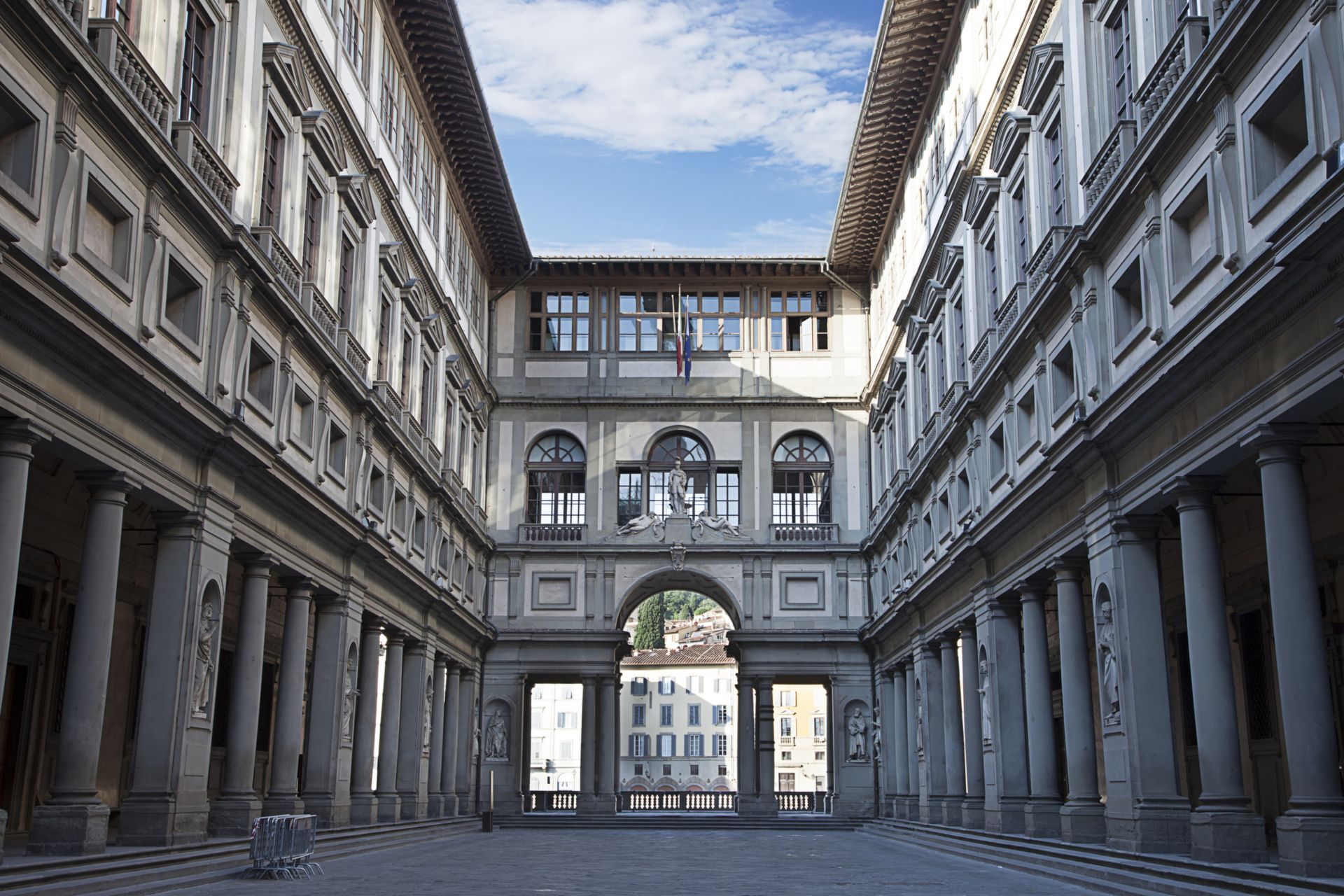 Uffizi Gallery, primary art museum of Florence. Tuscany, Italy