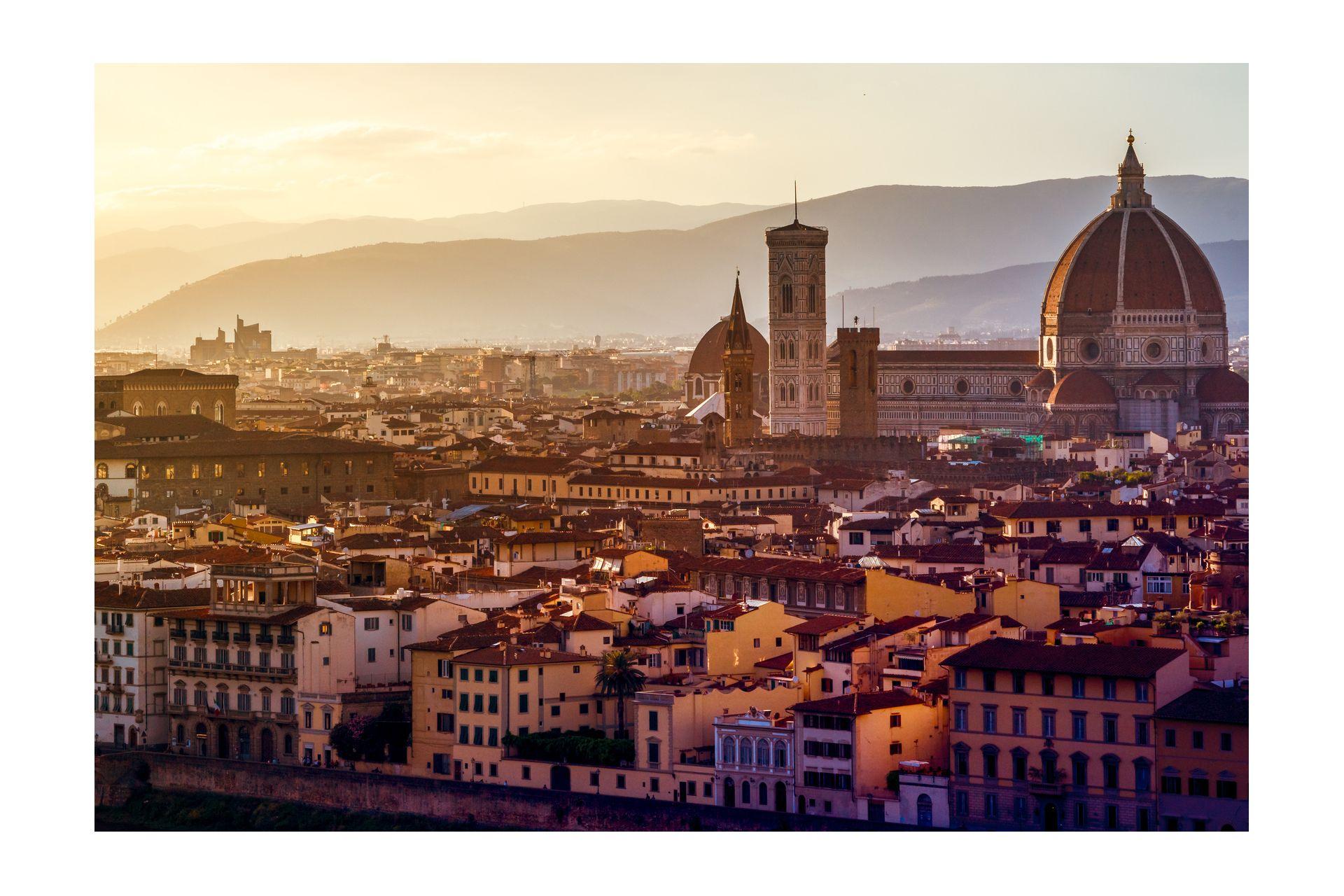 Blick über Florenz vom Michel Angelo Platz