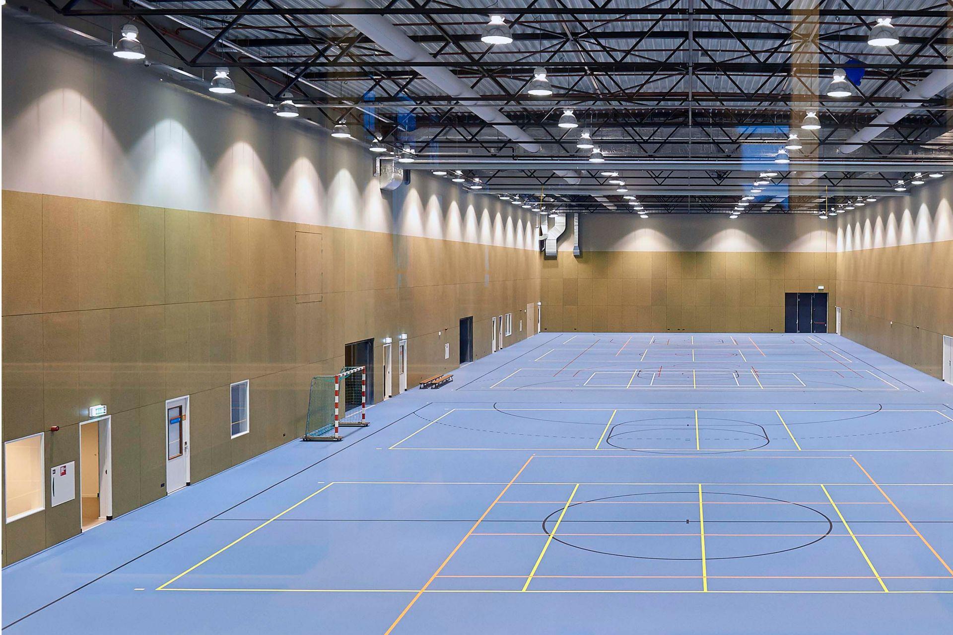 Sportvloer bij Papendal in Arnhem
