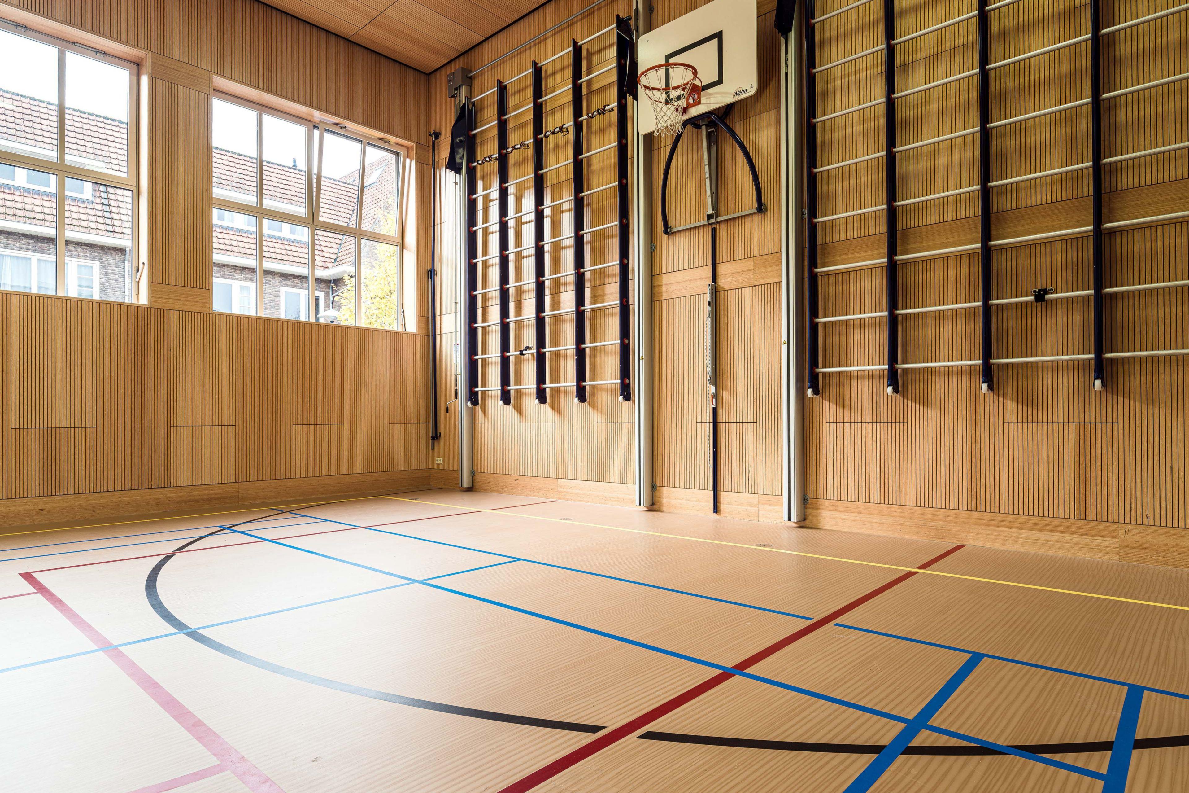 Decoratieve sportvloer
