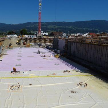 «Gelbe Wanne» für die Abdichtung von Neubauten, TGW Logistikzentrum