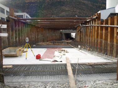 Abdichtung SBB Unterführung / Autobahnteilstück-A9,   Grosseya, Visp West