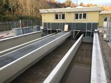 Betoninstandsetzung von Gewässerschutzobjekten, Abwasserreinigungsanlage (ARA) Bachwis, Herisau