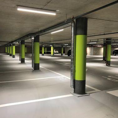 Revêtement de sol sans joint pour parking souterrain, Meinier