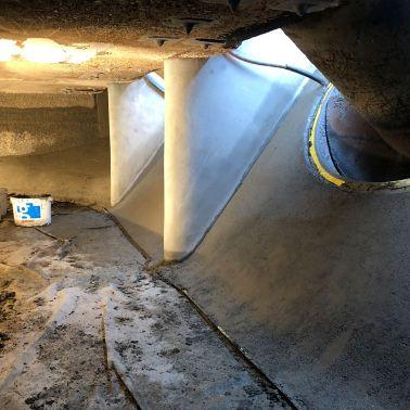 Hochwertige Betonsanierung in Abwasserreinigungsanlage, Bendern