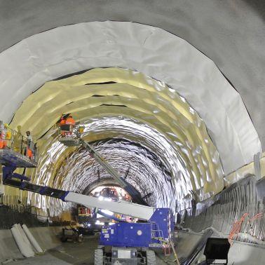 Doppellagige Abdichtung Eisenbahntunnel