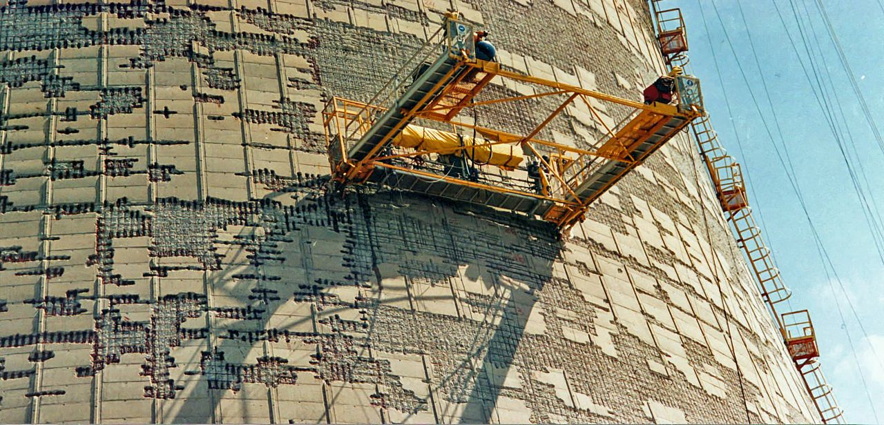 skador på betong nötning slitage