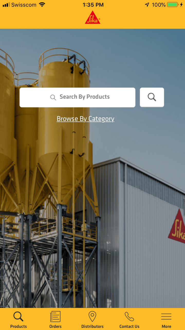 screenshot of the Sika Every Day app