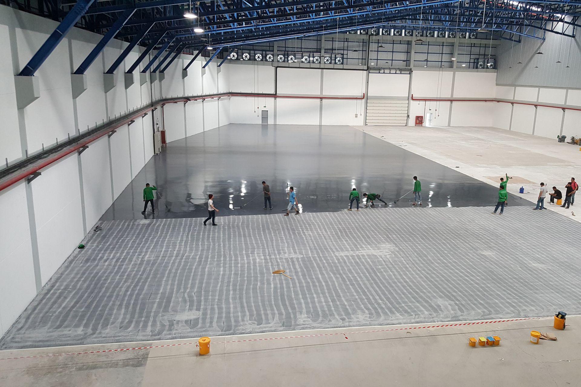 Ebro Herba Ricemills New Warehouse Polyurethane hybrid
