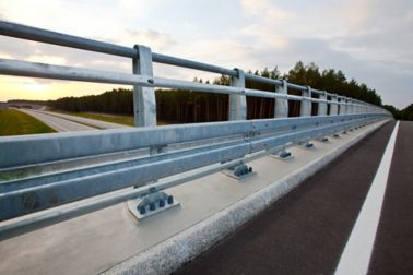 Bridge balustrade fixed and fastened  with SikaGrout cementitious mortar