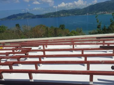New concrete roof at blue point condo
