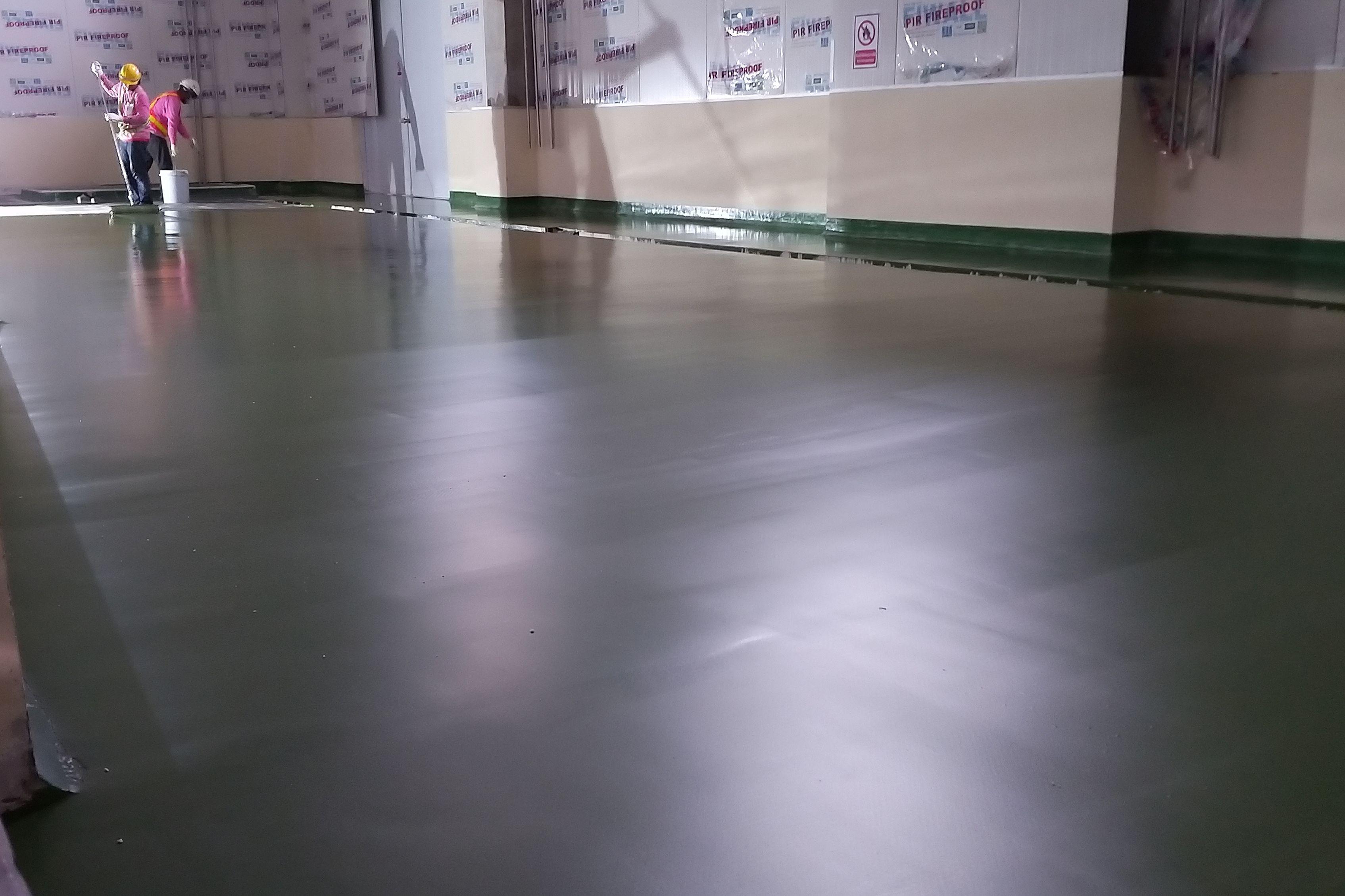 Ajinomoto RosDee refurbishment floor with polyurethane modified