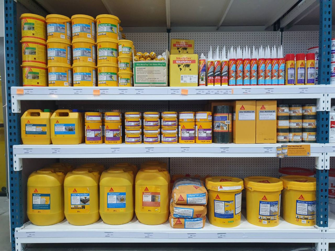 Sika products shelf at we home