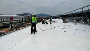 Brose Thailand using Sarnafil on metal deck roof